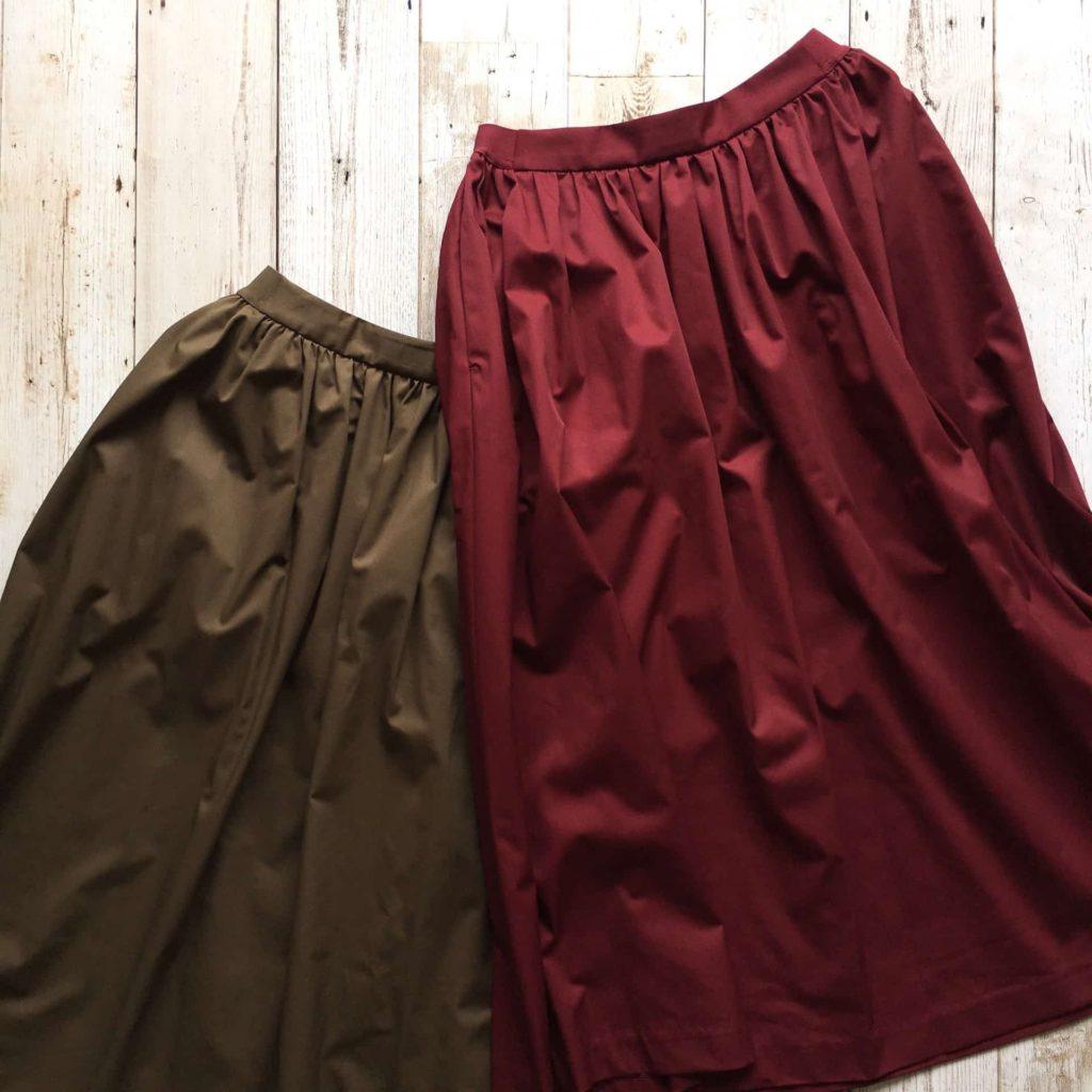 ユニクロ ハイウエストコットンボリュームスカート コーデ カラー サイズ