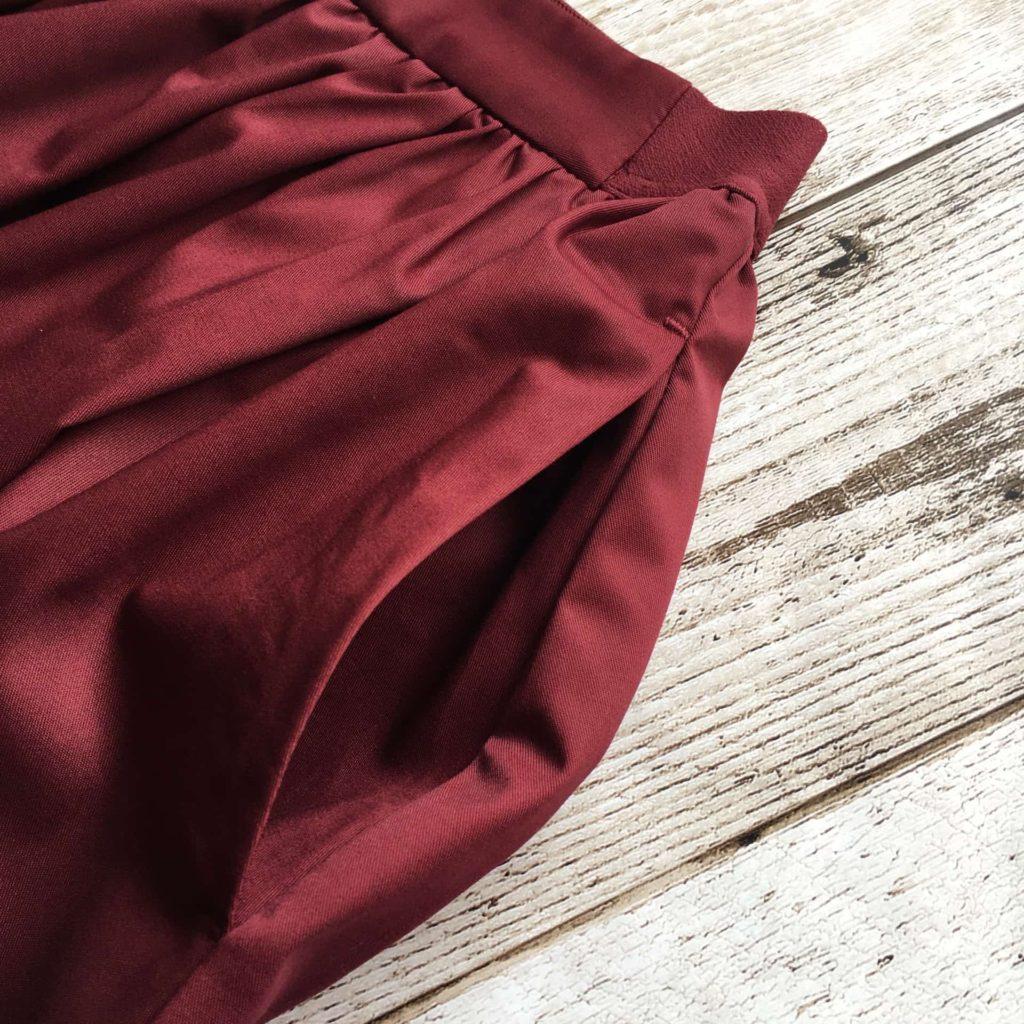ユニクロ ハイウエストコットンボリュームスカート ポケット