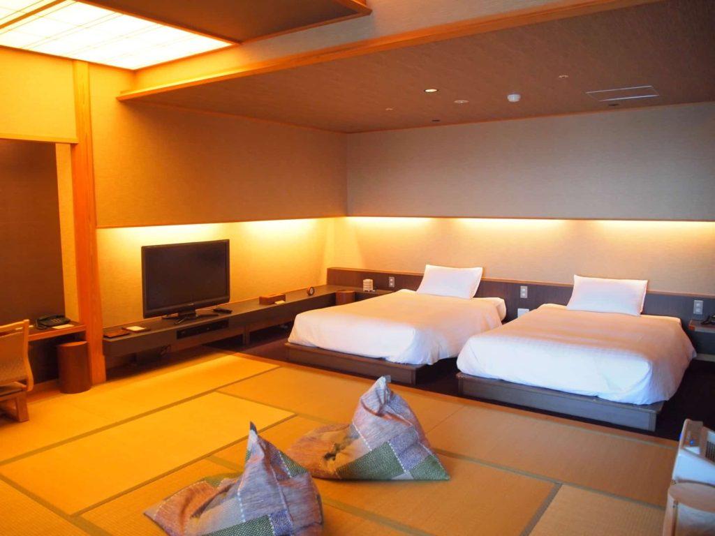 ホテルニューアワジ ヴィラ楽園 宙の庭 旅行記 宿泊レポ 部屋 ブログ