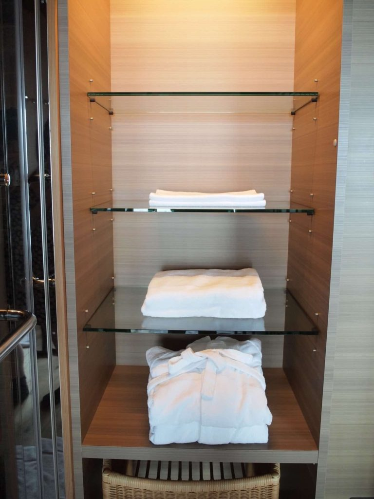ホテルニューアワジ ヴィラ楽園 宙の庭 旅行記 宿泊レポ 部屋 洗面所 バスローブ