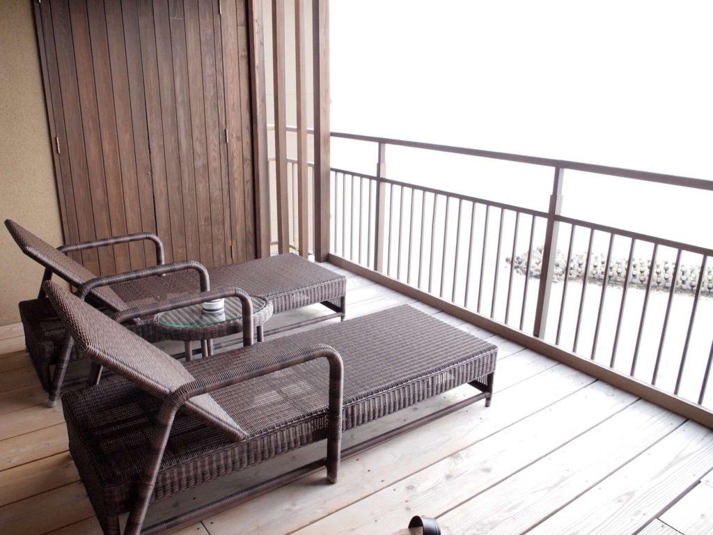 ホテルニューアワジ ヴィラ楽園 宙の庭 旅行記 宿泊レポ 部屋 ブログ ウッドテラス