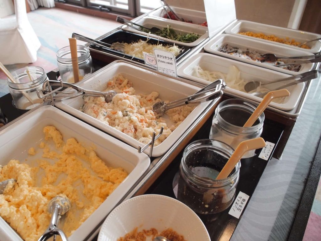 ホテルニューアワジ ヴィラ楽園 宙の庭 旅行記 宿泊レポ 朝食 ブッフェ ビュッフェ 食べ放題 バイキング