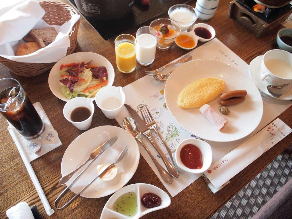 ホテルニューアワジ ヴィラ楽園 宙の庭 旅行記 宿泊レポ 部屋 朝食 アメリカンブレックファスト