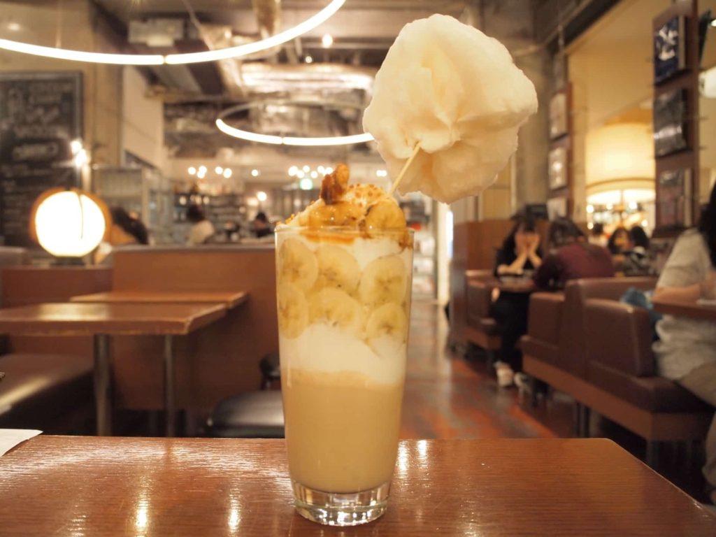 ビブリオテーク 大阪 梅田 バナナボンボンスムージー カフェ