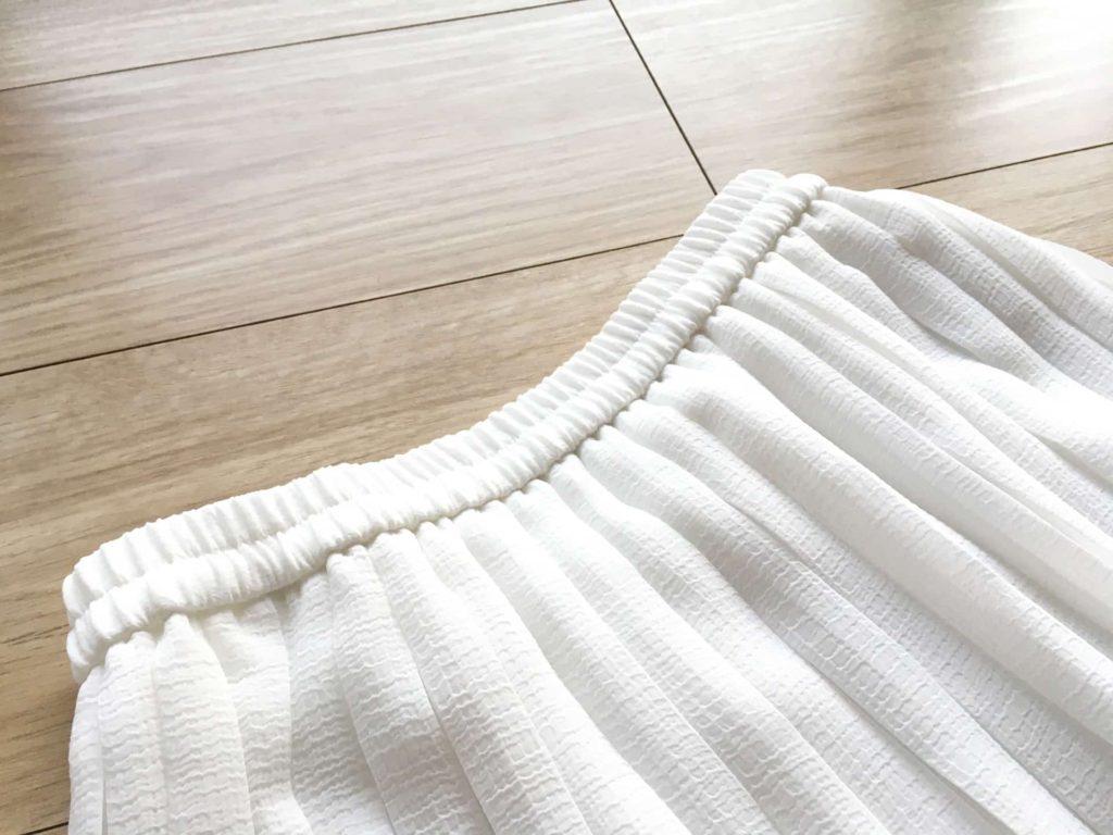 ユニクロ Uniqlo ハイウエストシフォンプリーツスカート コーデ 2018年 冬 春 コーデ ウエストゴム