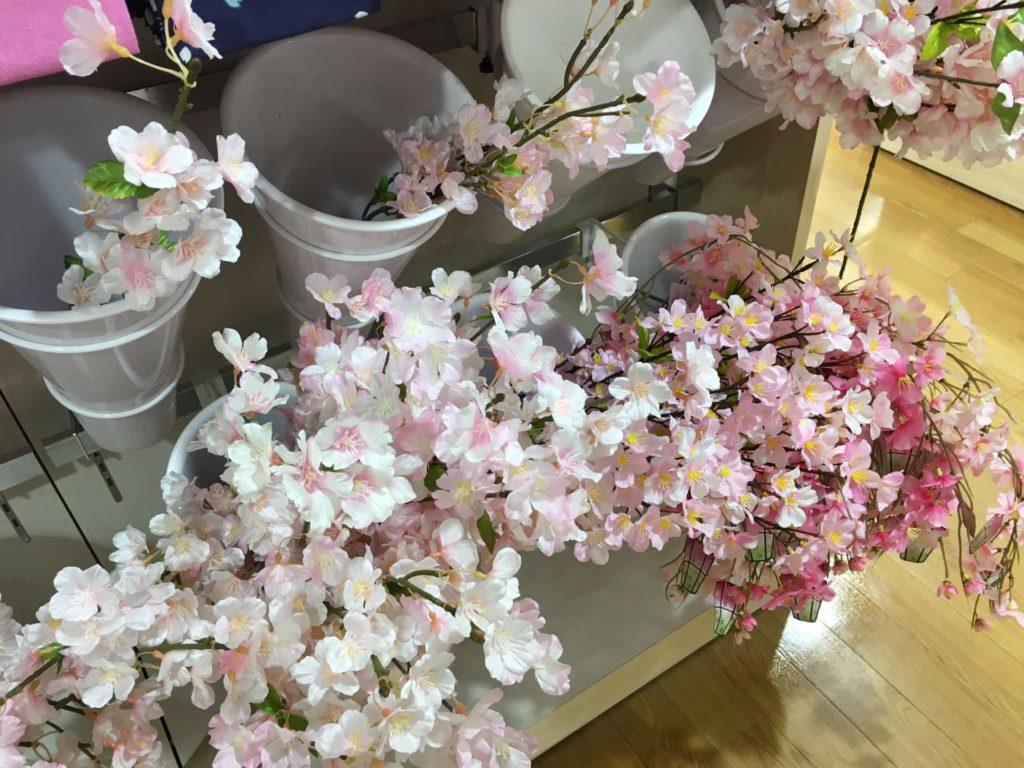 ダイソー 桜 2018 グッズ 商品 造花