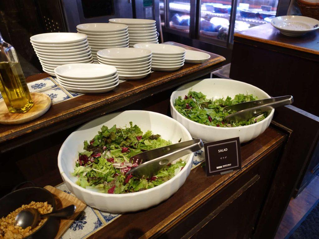 バルバラ 梅田 大阪 中崎町 バルバラマーケットプレイス ランチ サラダ食べ放題 サラダバー