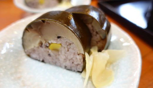 滋賀・メタセコイア並木の周辺でおすすめの「お食事処 蓮」。そば・鯖寿司が絶品!