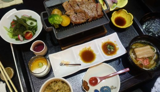 【沖縄マリオットホテル】レストラン「琉紅華」で和食ディナー。沖縄の食材が融合